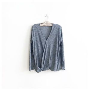 Olive & Oak ∙ Homemade Marshmallows Grey Wrap Top